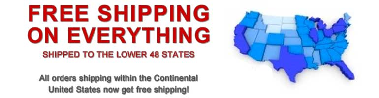 Free Shipping for Orders in the Continental US